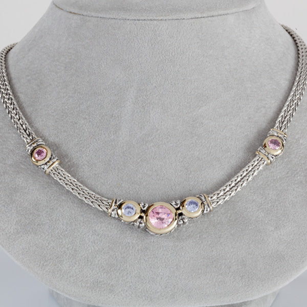 O Link Collection Pink Double Strand Necklace