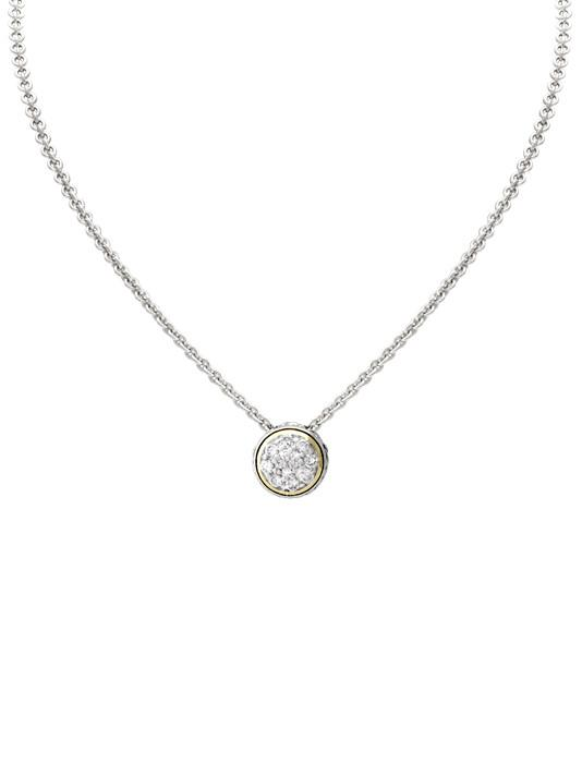 Lanna Solitaire Pavé Necklace by John Medeiros Jewelry Collections.