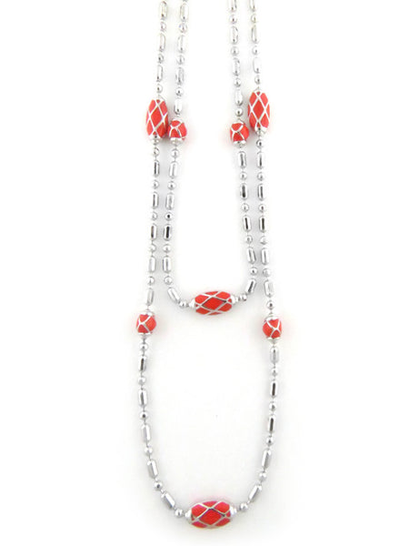 "LIMITED Coral Lattice 36"" Long Necklace"