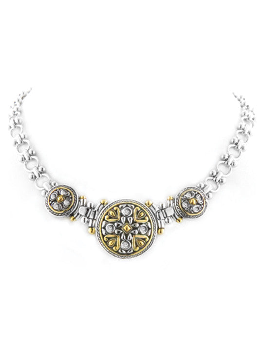 O-Link Collection Large Filigree CZ Necklace