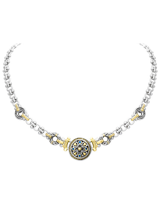 O-Link Collection Filigree Indigo Necklace