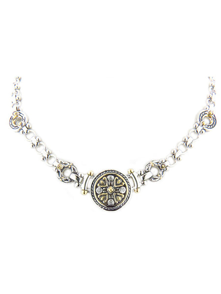 O-Link Collection Filigree CZ Necklace
