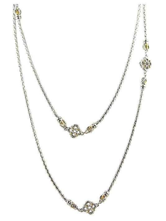"Lattice Collection - Palermo Edition - 30"" Four Station Necklace"