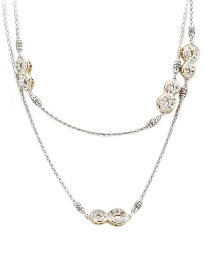 Infinity Collection Pavé Necklace with Clasp - John Medeiros Jewelry Collections