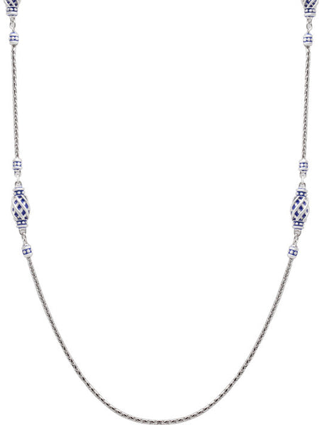 Lattice Collection - Lapis Edition - Six Station Necklace with Clasp