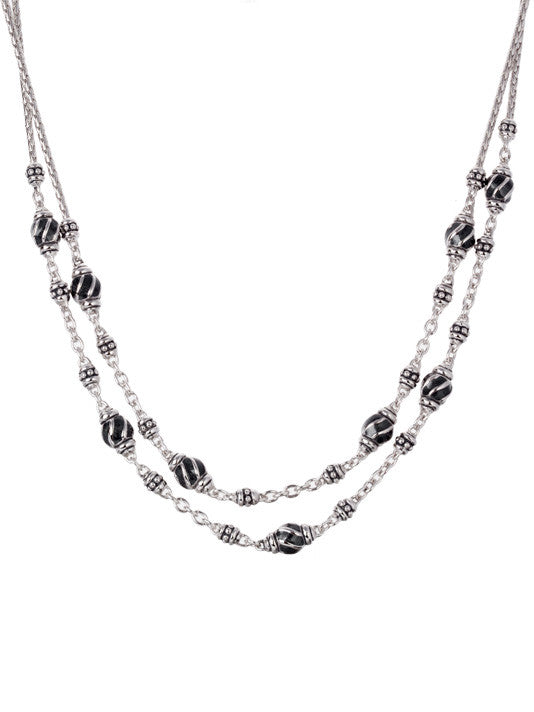 Ocean Images Black Seas Collection Double Strand Necklace
