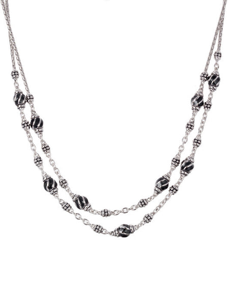 Ocean Images - Black Seas Double Strand Necklace