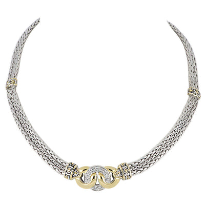 Antiqua Three Circle Pavé Necklace - John Medeiros Jewelry Collections