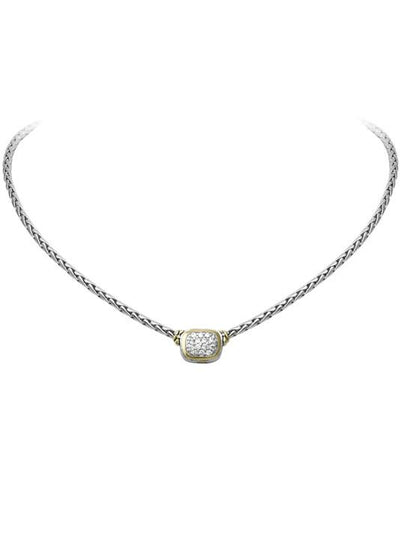 Nouveau CZ Single Strand Necklace