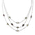 Anvil Timeless Triple Strand Necklace with Pavé Accents