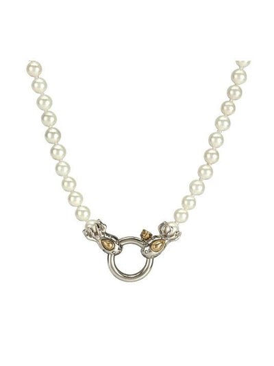 John Medeiros Aqua Viva Seaside Spring Ring Strand of Knotted Pearls