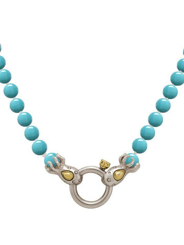 Ocean Images Aqua Viva Seaside Collection Spring Ring Strand of Knotted Pearls