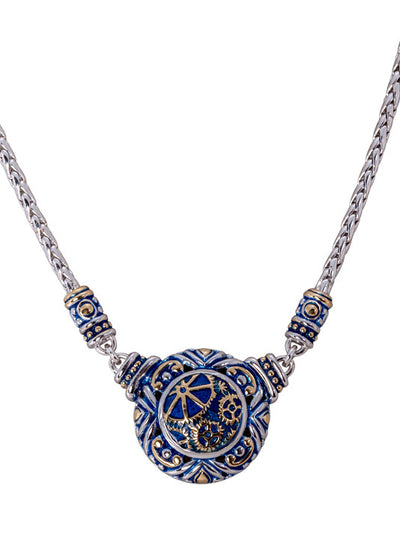 John Medeiros Blue Anvil Collection - Gears of Time Edition - Single Strand Adjustable Necklace