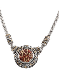 John Medeiros Carnelian Anvil Collection - Gears of Time Edition - Single Strand Adjustable Necklace