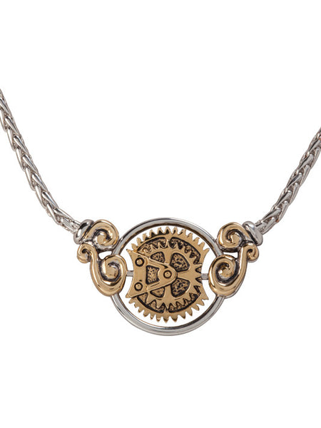 John Medeiros Blue Anvil Collection - Gears of Time Edition - Centerpiece Necklace