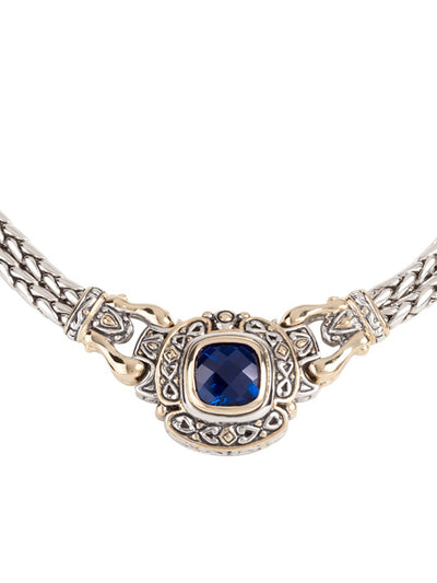 Pedras Collection Indigo CZ Double Strand Necklace