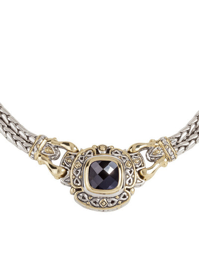 Pedras Collection Black CZ Double Strand Necklace