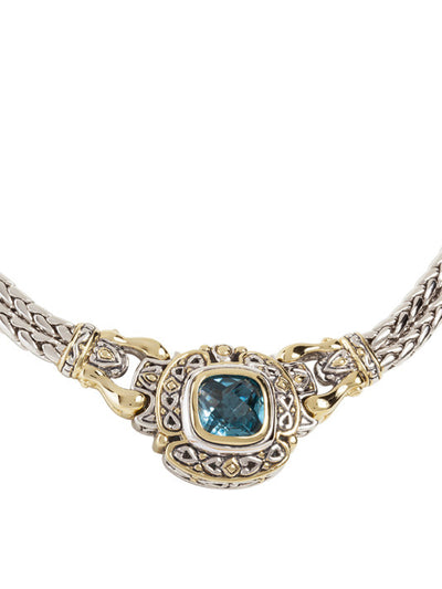 Pedras Collection Aqua CZ Double Strand Necklace