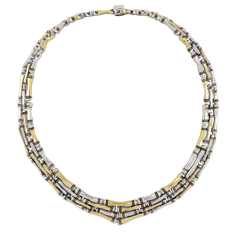 Canias Collection Four Row Necklace full view
