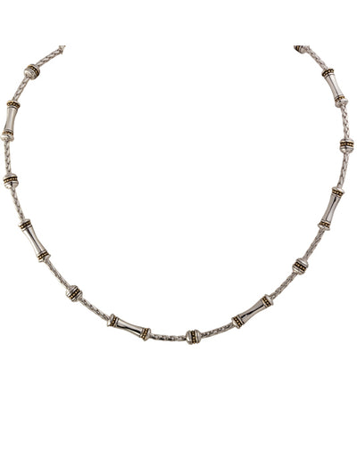 "Canias Collection 18"" Link and Charm Necklace"