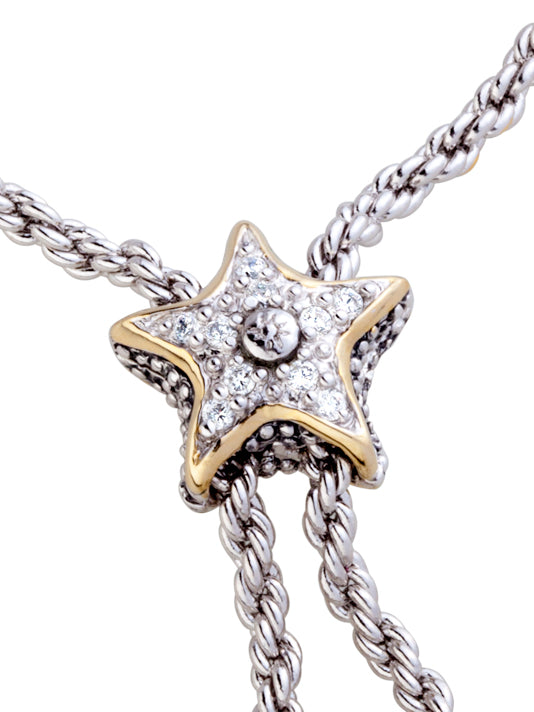 "Celebration Pavé Starfish 32"" Adjustable Bolo Necklace"