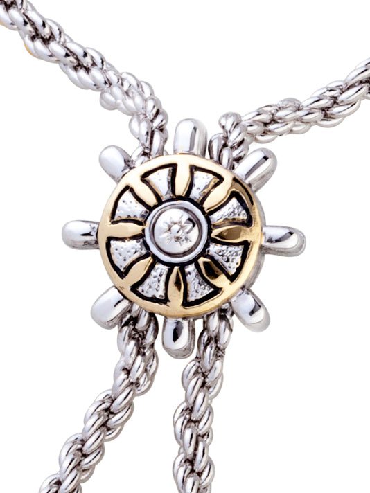 "Celebration Ship Wheel 32"" Adjustable Bolo Necklace"