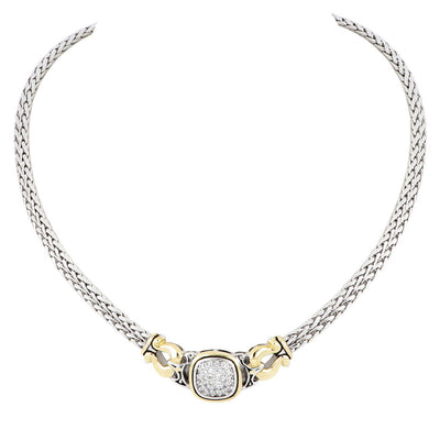 Anvil Pavé Double Strand Horseshoe Necklace