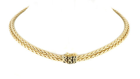 Anvil Gold & Pavé Double Strand Horseshoe Necklace clasp