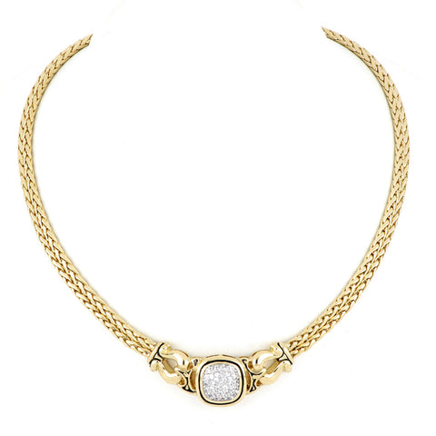 Anvil Gold & Pavé Double Strand Horseshoe Necklace