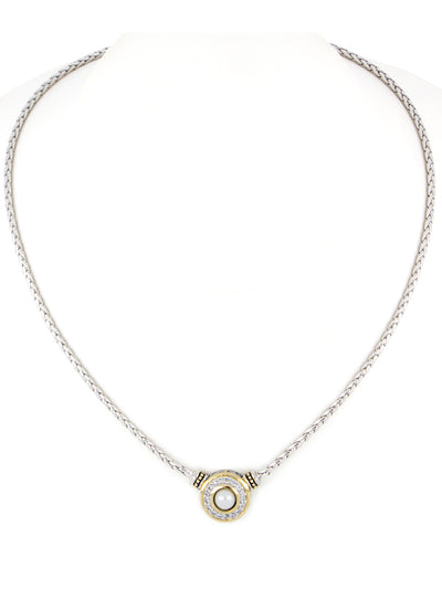 Pérola Pavé & White Seashell Pearl Necklace
