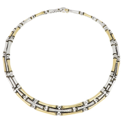 Canias Pavé Three Row Necklace