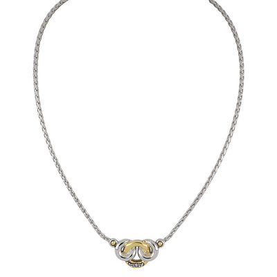 Ciclo D'Amor Two Tone 3 Circle Necklace