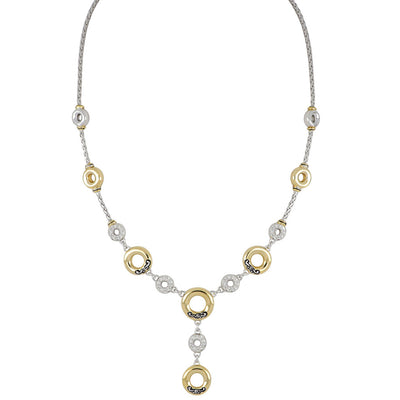 Ciclo D'Amor Pavé and Gold Drop Necklace