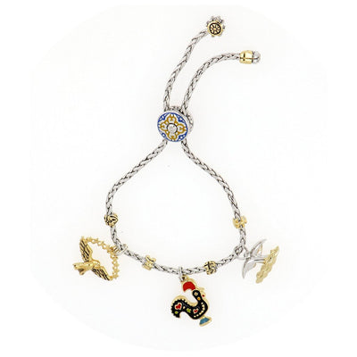 Copy of Portuguese Collection Adjustable Bolo Bracelet with Charms - SET5