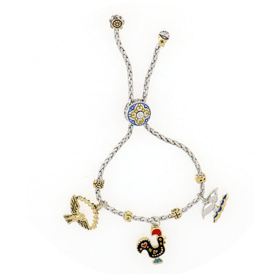 Portuguese Collection Adjustable Bolo Bracelet with Charms - SET6