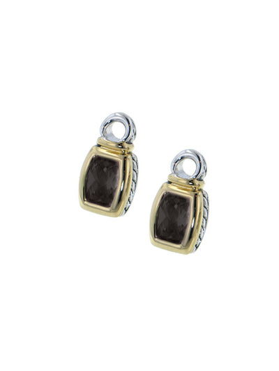 John Medeiros Black Barrel Earring Charms