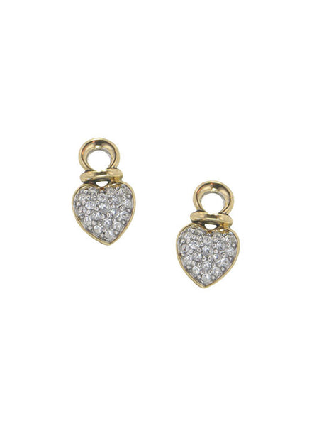 Pavé Heart Earring Charms