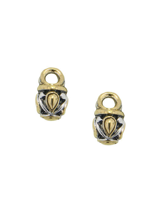 Two Tone Oval Earring Charms