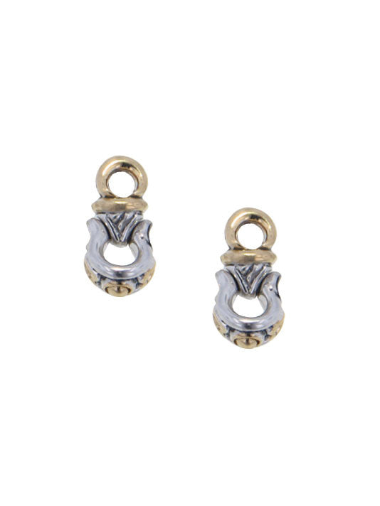 Two Tone Horseshoe Earring Charms