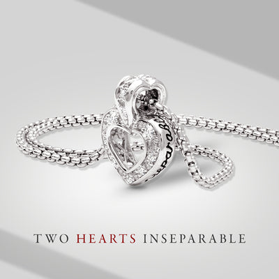 Heart Collection Two Hearts Inseparable Slider with Chain - John Medeiros Jewelry Collections