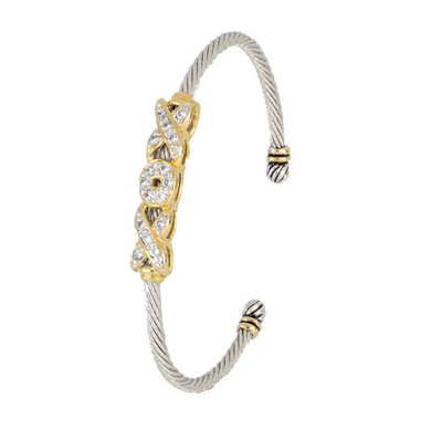 Celebration Petite Pavé Hugs and Kisses Cuff Bracelet
