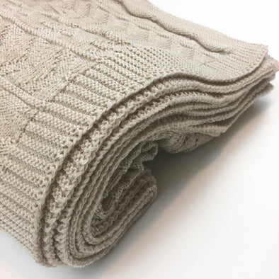 Sandy Knit + Purl - Throw Blanket