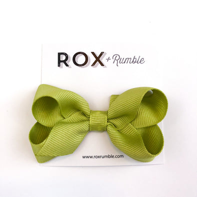Hair Bow - Bright Green