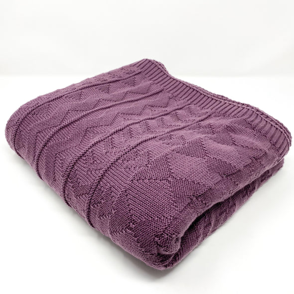 Madelyn Knit + Purl - Throw Blanket