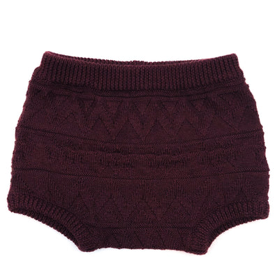 Bordeaux Knit + Purl - Woolster Euro Shorts