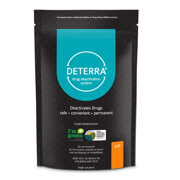 Deterra MP - Drug Deactivation & Disposal System (Medium Stand-Up Pouch) 3-Pack.  Shipping included in Price.
