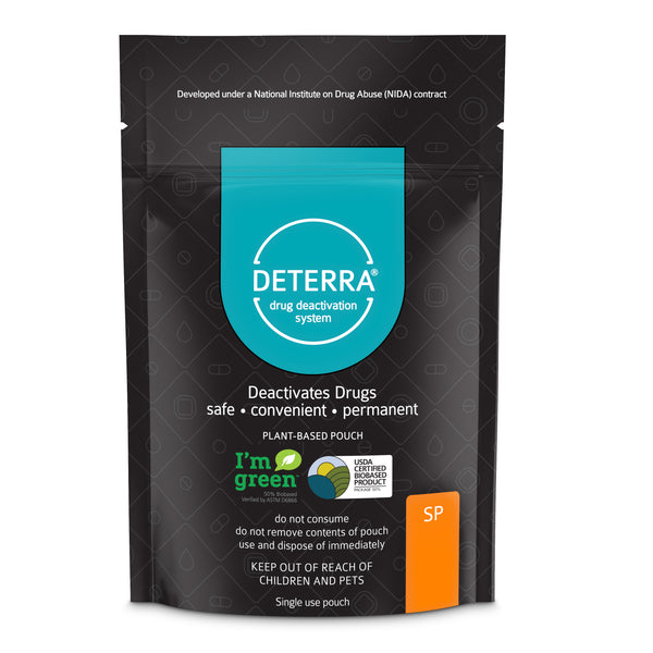 Deterra SP - Drug Deactivation & Disposal System (Small Stand-Up Pouch) 3-Pack.  Shipping included in Price.