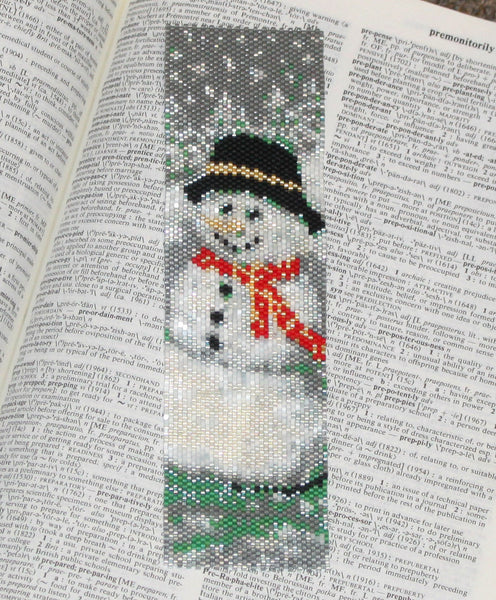 Snowman Peyote Pattern - December 2016 BeadTrove Course Kit