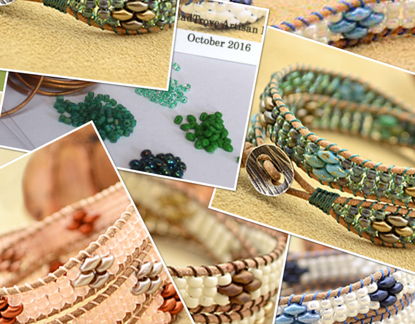 Seashore Super Duo Wrap Bracelet - October 2016 BeadTrove Course Kit