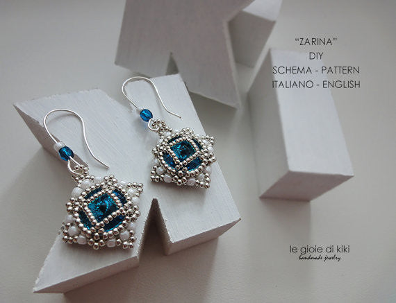Czarina Earrings - February 2017 BeadTrove Course Kit